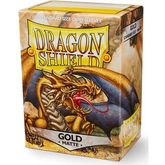 Dragon Shield Card Sleeves - Matte Gold (100)
