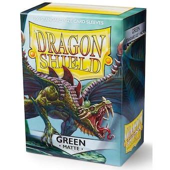 Dragon Shield Card Sleeves - Matte Green (100)