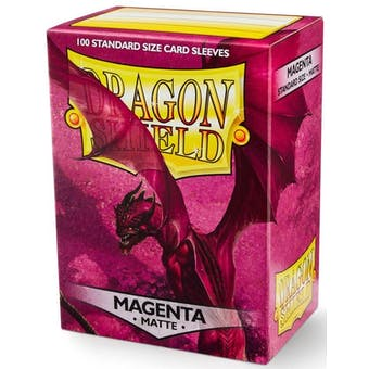 Dragon Shield Card Sleeves - Matte Magenta (100)