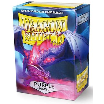 Dragon Shield Card Sleeves - Matte Purple (100)