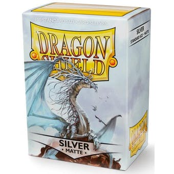 Dragon Shield Card Sleeves - Matte Silver (100)