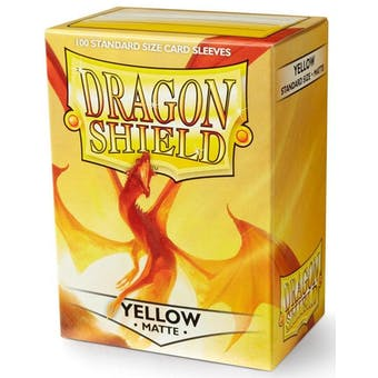 Dragon Shield Card Sleeves - Matte Yellow (100)
