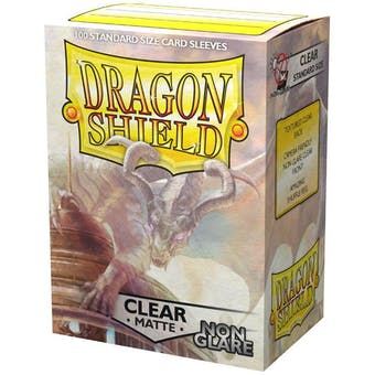 Dragon Shield Card Sleeves - Non-Glare Matte Clear (100)