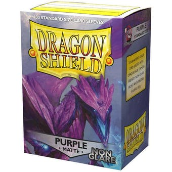 Dragon Shield Card Sleeves - Non-Glare Matte Purple (100)