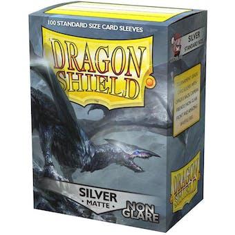 Dragon Shield Card Sleeves - Non-Glare Matte Silver (100)