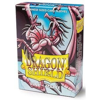 Dragon Shield Yu-Gi-Oh! Size Card Sleeves - Matte Pink (60)