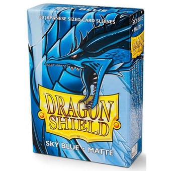 Dragon Shield Yu-Gi-Oh! Size Card Sleeves - Matte Sky Blue (60)