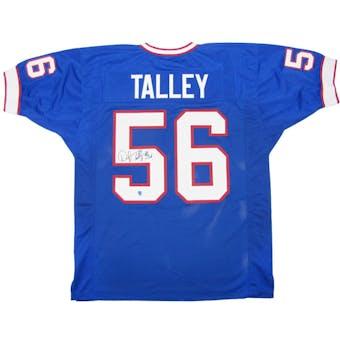 Darryl Talley Autographed Buffalo Bills Blue Football Jersey