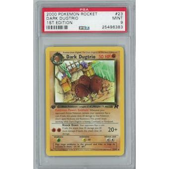 Pokemon Team Rocket 1st Edition Dark Dugtrio 23/82 Rare PSA 9