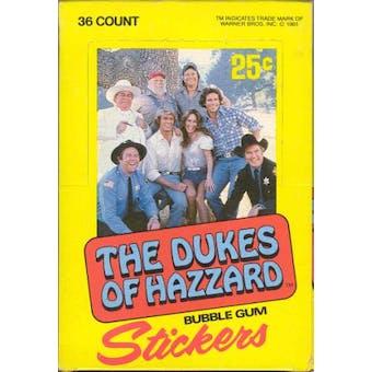 Dukes of Hazzard Stickers Wax Box (1981 Donruss)