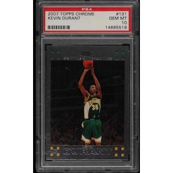 2007/08 Topps Chrome Kevin Durant PSA 10 card #131