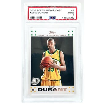 2007/08 Topps Kevin Durant PSA 9 card #2 (Mint)