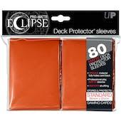Ultra Pro Pro Matte Eclipse Deck Protector Sleeves - Orange (80 Ct.)