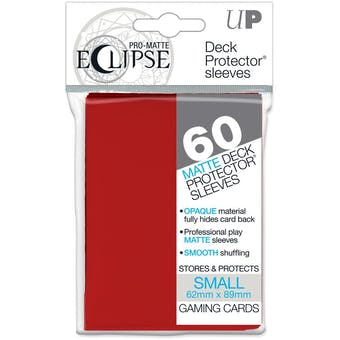 Ultra Pro Matte Eclipse Yu-Gi-Oh! Size Card Sleeves - Apple Red (60 Ct.)