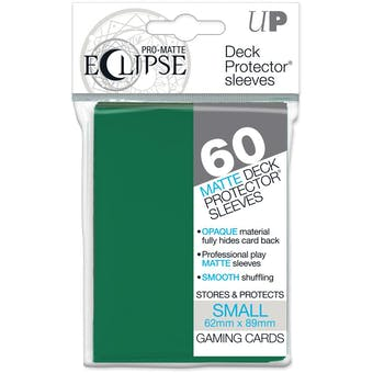 Ultra Pro Matte Eclipse Yu-Gi-Oh! Size Card Sleeves - Forest Green (60 Ct.)