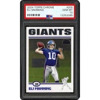 2004 Topps Chrome Eli Manning PSA 10 card #205