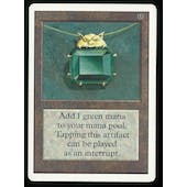 Magic the Gathering Unlimited Single Mox Emerald - SLIGHT PLAY minus (SP-)