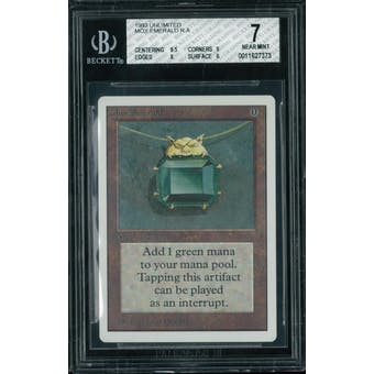 Magic the Gathering Unlimited Mox Emerald BGS 7 (9.5, 9, 8, 6)