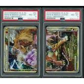 Pokemon Unleashed Entei & Raikou LEGEND 90/95 & 91/95 Both Halves PSA 8