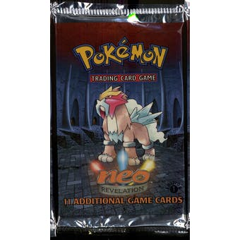 WOTC Pokemon Neo 3 Revelation 1st Edition Booster Pack ENTEI Art UNWEIGHED