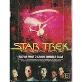 Star Trek: The Motion Picture Wax Box (1979 Topps) (Reed Buy)