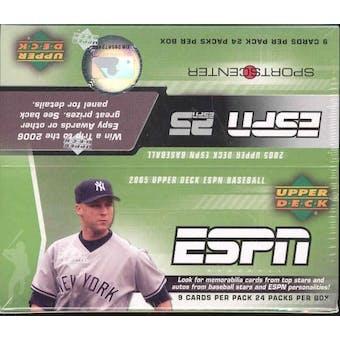 2005 Upper Deck ESPN Baseball Hobby Box