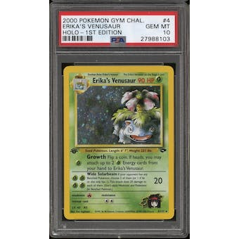 Pokemon Gym Challenge 1st Edition Erika's Venusaur 4/132 PSA 10 GEM MINT