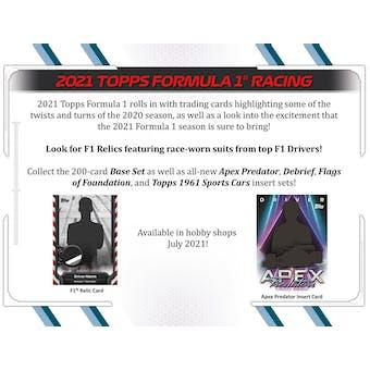 2021 Topps Formula 1 Racing Hobby 12-Box Case (Presell)