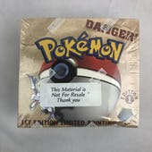 Pokemon Fossil 1st Edition Booster Box EX-MT Sticker on top