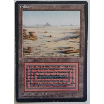 Magic the Gathering 3rd Ed (Revised) FBB GERMAN Single Badlands - SLIGHT PLAY (SP) Sick Deal Pricing