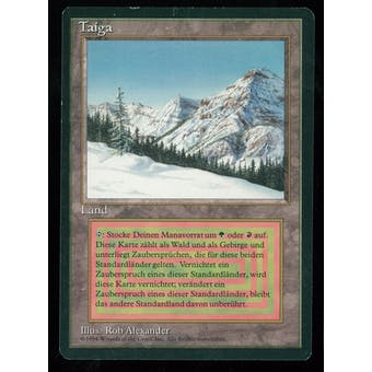 Magic the Gathering 3rd Ed (FBB) Single Taiga (German) - MODERATE PLAY (MP)