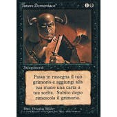 Magic the Gathering 3rd Ed (Revised) Single Demonic Tutor ITALIAN (FBB) - MODERATE PLAY