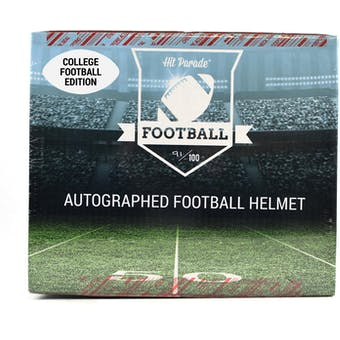 2018 Hit Parade Autographed Full Size College Football Helmet Hobby Box - Series 6 - Drew Brees & Todd Gurley!