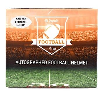 2018 Hit Parade Auto Full Size College Football Helmet 1-Box Series 7- DACW Live 6 Spot Random Break #5