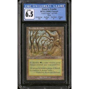 Magic the Gathering Urza's Saga FRENCH Gaea's Cradle CGC 6.5 SLIGHT PLAY (SP)