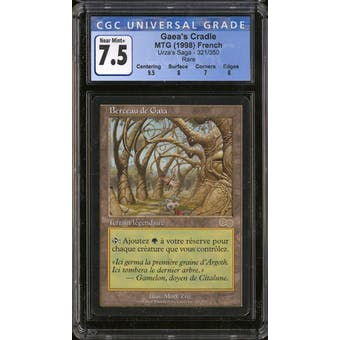 Magic the Gathering Urza's Saga FRENCH Gaea's Cradle CGC 7.5 SLIGHT PLAY (SP)