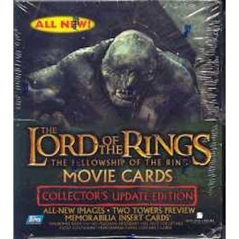 Lord of the Rings Fellowship of the Ring Update Movie Card Hobby Box (Topps)