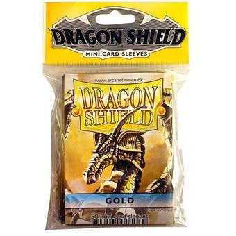 Dragon Shield Yu-Gi-Oh! Size Card Sleeves - Gold (50 Ct. Pack)