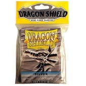 Dragon Shield Yu-Gi-Oh! Size Card Sleeves - Silver (50 Ct. Pack)