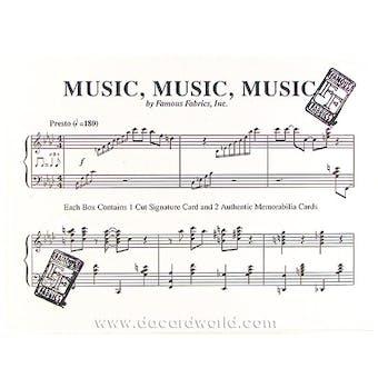 Music, Music, Music Hobby Box (Famous Fabrics Ink 2012)