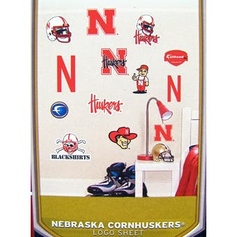 "Fathead Jr. Nebraska Cornhuskers Team Logo Set Wall Graphic 40"" X 27""  (Lot of 10)"