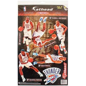 Fathead Oklahoma City Thunder Team Set Wall Graphic  (Lot of 10)