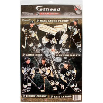 Fathead Pittsburgh Penguins Team Set Wall Graphic (Lot of 10)