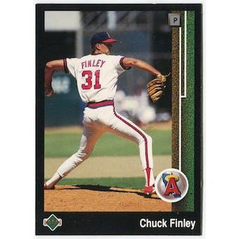 1989 Upper Deck Chuck Finley California Angels #632 Black Border Proof