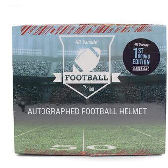 2019 Hit Parade Autographed FS Football Helmet 1ST ROUND EDITION Hobby Box - Series 1 - PATRICK MAHOMES!!!