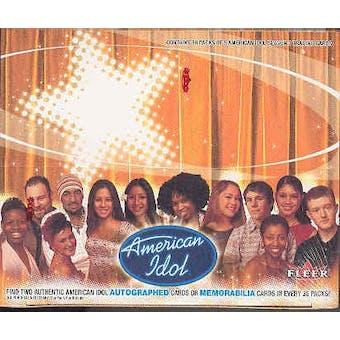 American Idol Season 3 Hobby Box (2004 Fleer)