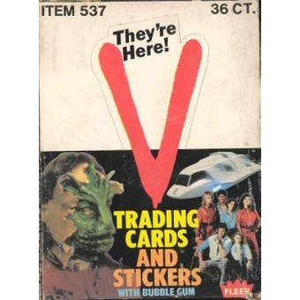 """V"" Wax Box (1984 Fleer)"