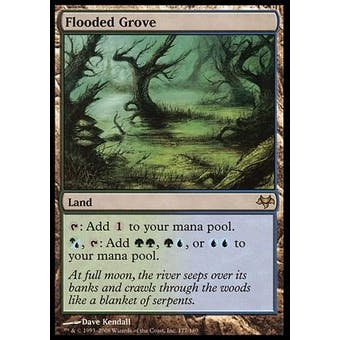 Magic the Gathering Eventide Single Flooded Grove FOIL - SLIGHT PLAY (SP)