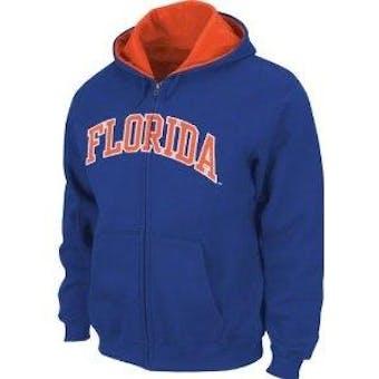 Florida Gators NCAA Genuine Stuff Blue Full Zip Fleece Hoodie (Adult L)