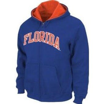 Florida Gators NCAA Genuine Stuff Blue Full Zip Fleece Hoodie (Adult XL)